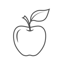 Apple icon isolated on a white background vector