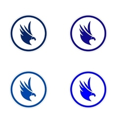 Assembly silhouette stickers Eagles vector