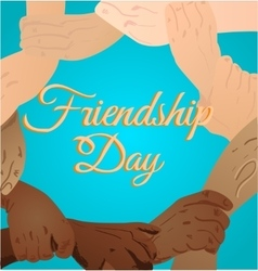 beautiful card for friendship vector image
