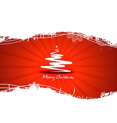 Beautiful red tree Christmas vector image
