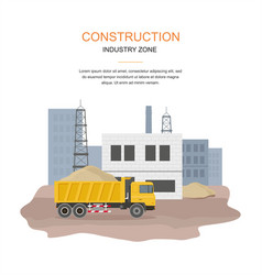 Building factory industry zone construction speci vector