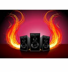 Burn music vector