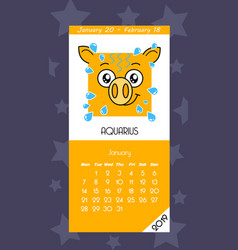 calendar for january 2019 vector image