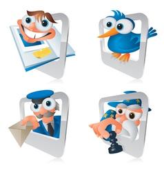 Cartoon Smartphone Apps Social vector image