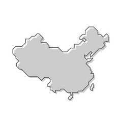 china map modern simple line style vector image