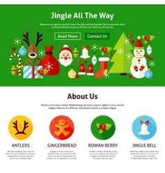 Christmas Jingle Web Design vector image