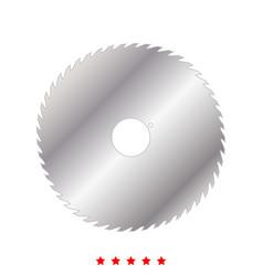 circular saw blade icon flat style vector image vector image