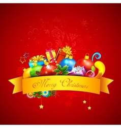 Colorful Christmas Gift vector image