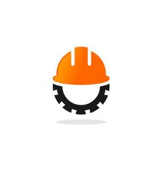 contractor tool helmet logo vector image