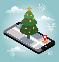 cristmas tree vector image