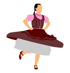 Csardas dancer girl hungarian folklore artist vector