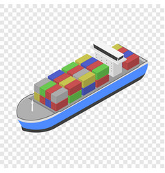 delivery cargo ship icon isometric style vector image