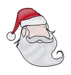 face christmas santa claus character vector image