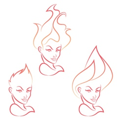 Fire Girl vector image