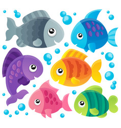 fish theme collection 1 vector image