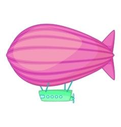 Flying airship icon cartoon style vector