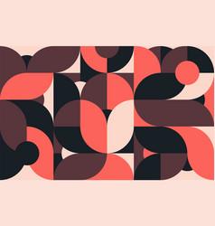 geometric minimalistic color composition template vector image