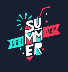 Go to summer party vector
