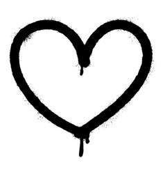 graffiti spray heart icon design element logo vector image