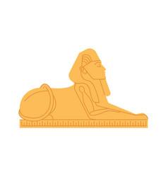 Great sphinx giza deity or mythological vector