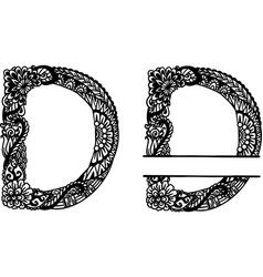 Hand drawn letter d vector