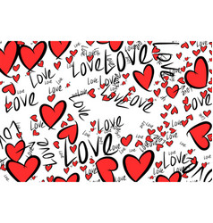 Hand drawn love for valentine day celebrations or vector