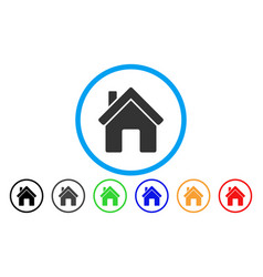 House rounded icon vector
