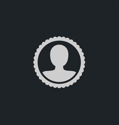Human icon simple hr vector