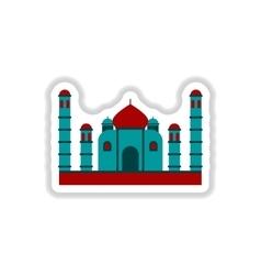 In paper sticker style Taj vector