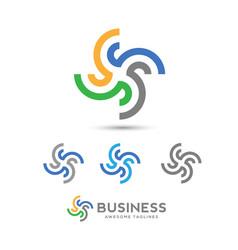 infinity loop logo vector image