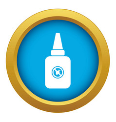 Insect spray icon blue isolated vector