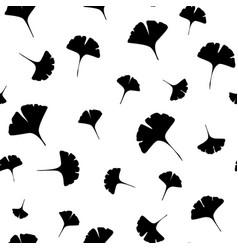 leaves ginkgo bilboa seamless vector image