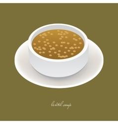 lentil soup vector image