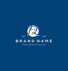Letter fl logo design vector