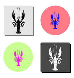 lobster flat icon vector image