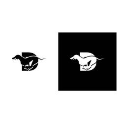 Logo design initials letter d combination vector
