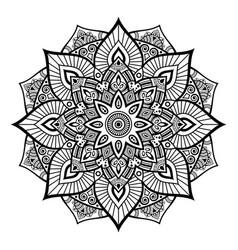 Mandala decorative round ornament vector