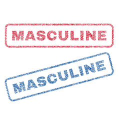 Masculine textile stamps vector
