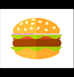 Meat hamburger isolated icon vector