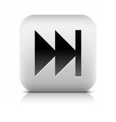 Media player icon with last sign vector