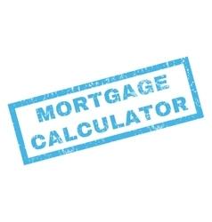 Mortgage Calculator Rubber Stamp vector