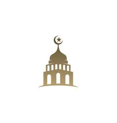 Mosque simple icon logo design mosque moslem vector