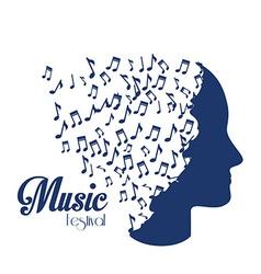 Music design over white background vector image