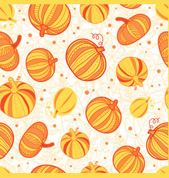 orange yellow pumpkins texture seamless vector image