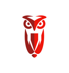 Owl abstract bird logo vector