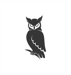 Owl logo black vector