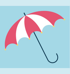 Parasol opened accessory with handle sign vector