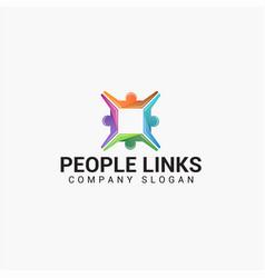 People links logo design vector