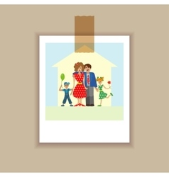 Portrait family posing together vector image