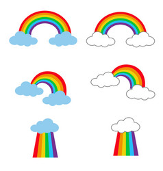 rainbow icon on white background flat style vector image